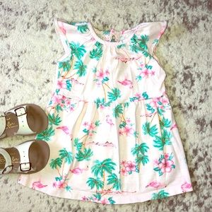 *5 for $20 Sale* Tropical Flamingo Print Dress